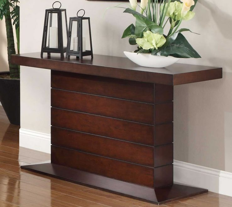 Vanity Contemporary Console Table With Drawers Of Sofa Cherry