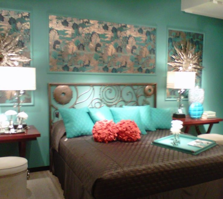Vanity Green And Turquoise Decor Of Pretty Colored Blue Bedroom Furniture Chair Wall