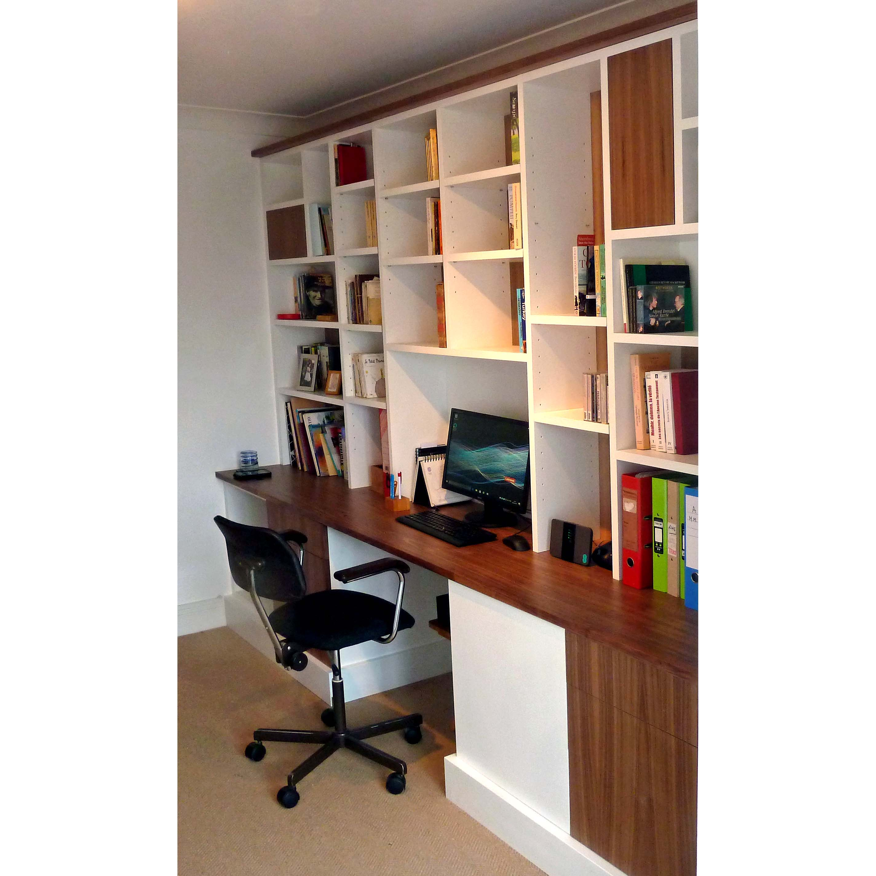 Vanity Home Office Shelving Solutions Of Bespoke Fitted Furniture