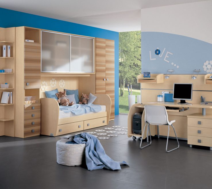 Vanity Modern Kids Storage Of Colorful Bedroom Ideas In Small Design