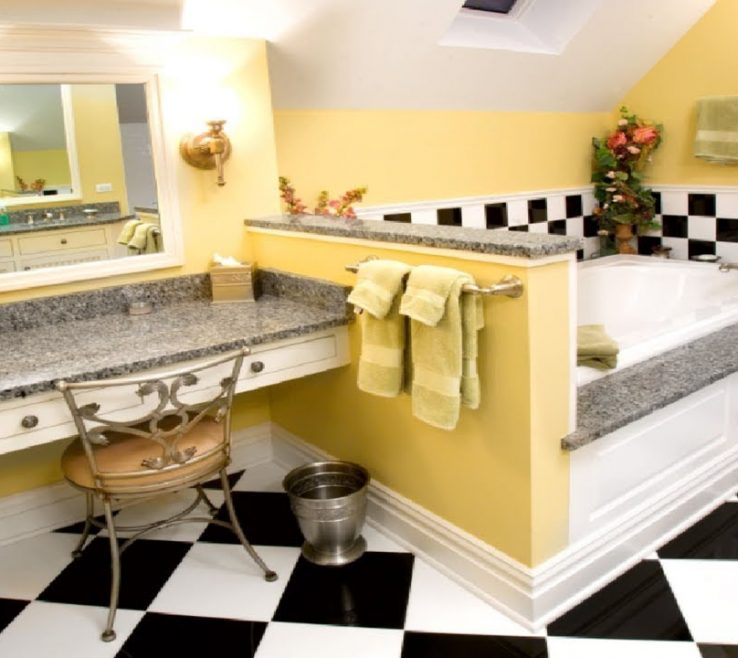 Vanity Yellow Bathrooms Of Amazing Gray And That Delight