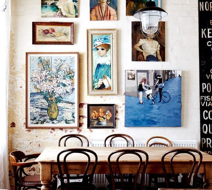 Vintage Interior Design Of Eclectic Decor, Eclectic Dining Room With Wooden