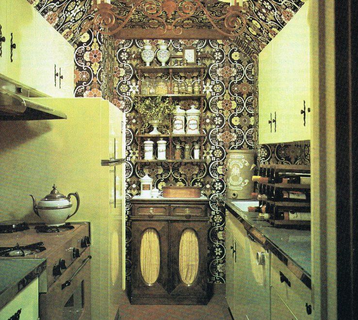 Vintage Interior Design Of Retro Kitchen