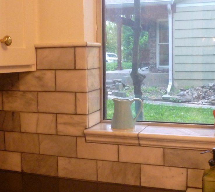 Window Sill Ideas Of Kitchen Tiled Kitchen Interior Windowsill Garden How
