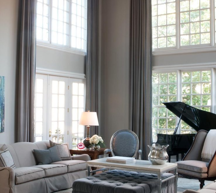 Window Treatment Ideas For Living Room Of High Ceiling Curtain With Interesting Design Curtains