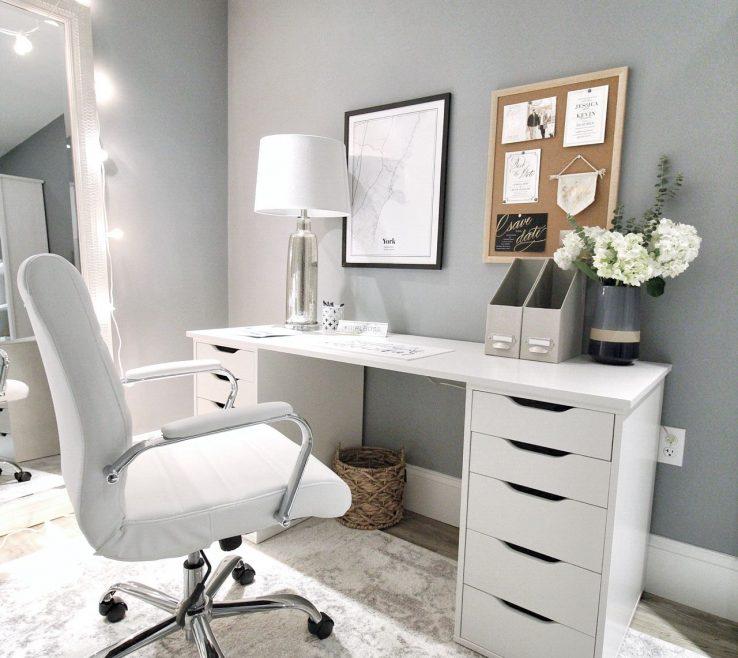 Wonderful Bedroom Office Desk Of Easy Ikea Alex Hack