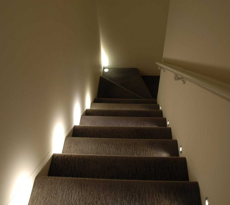 Wonderful Modern Staircase Lighting Of Port Led Round Wall/floor Recessed Light By