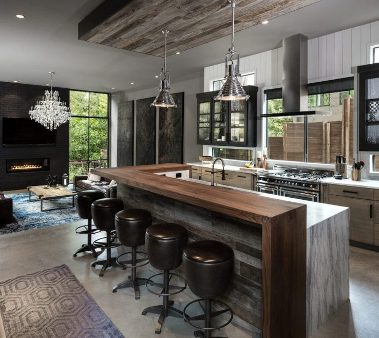Wonderful Trial S Of Black Marble Kitchen With Pendant Tiles Contemporary