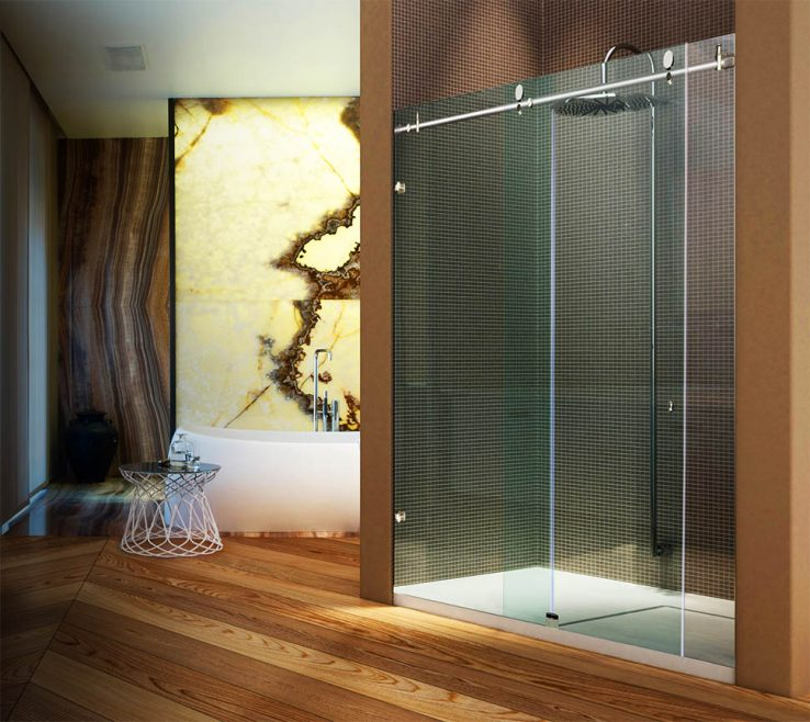 Wood Shower Door Of Metro Sliding Doors Have Many Customizable Options