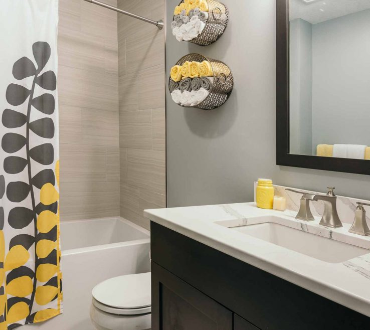 Yellow Bathrooms Of Clean Contemporary Gray And Bathroom By Silent