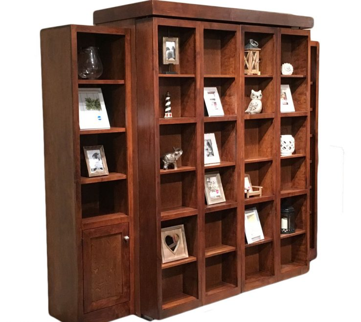 Adorable Bookshelves Library Style Of Wallbed