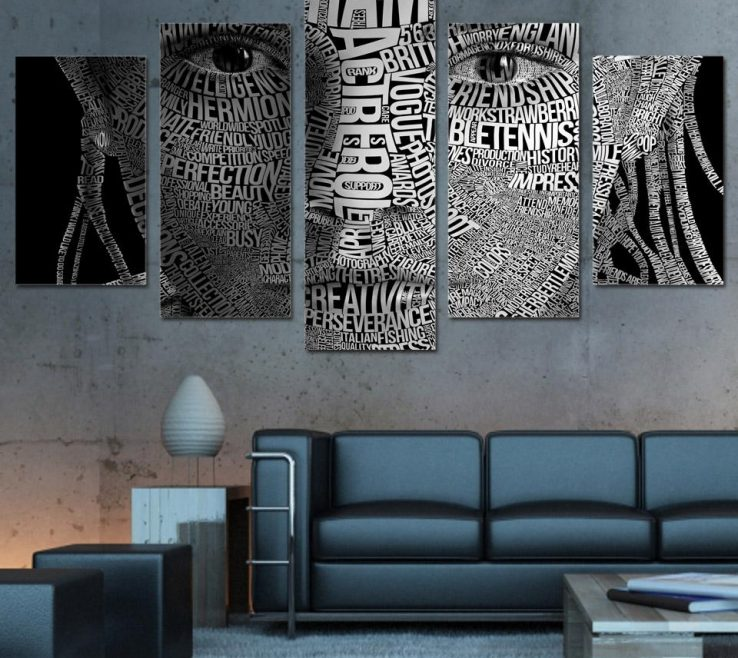 Adorable Framed Objects Wall Art Of 2019 Hd Printed Words Face Typography Canvas