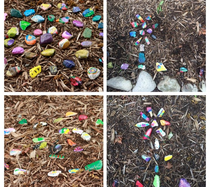 Adorable Painted Rocks For Garden Of Lining A Path