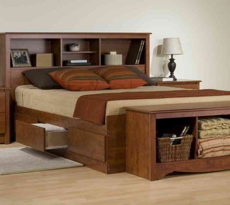 Adorable Space Saving Storage Beds Of Collection King Size Bed Frame With Drawers
