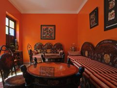 Wonderful Curtains With Orange Walls Of Full Size Of Bedroom:orange And Blue Bedroom