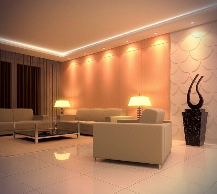 Alluring Led Room Lighting Ideas Of 12 Photos Of The Bright For Living