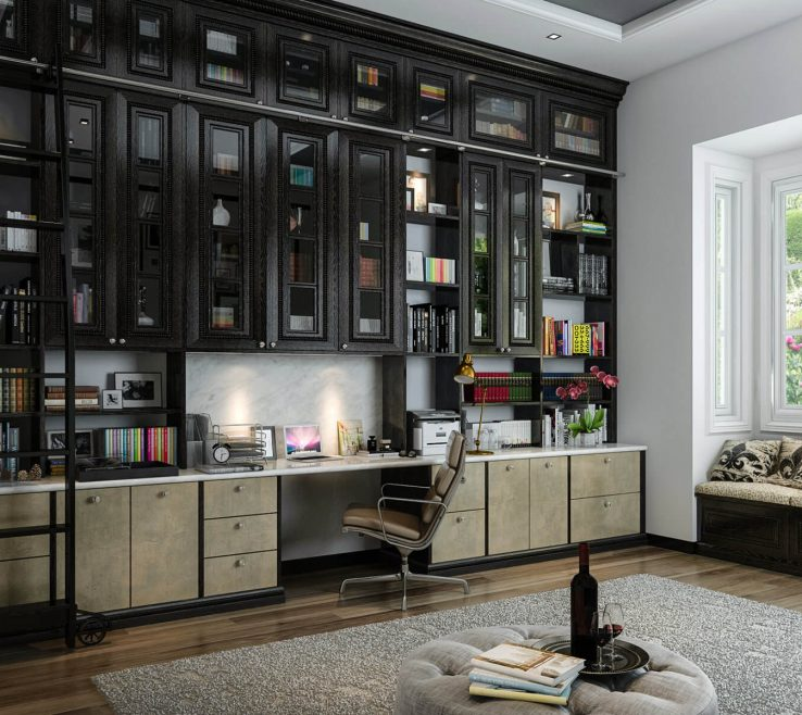 Amazing Built In Home Office Of Custom Design Ideas At Design Concept Ideas