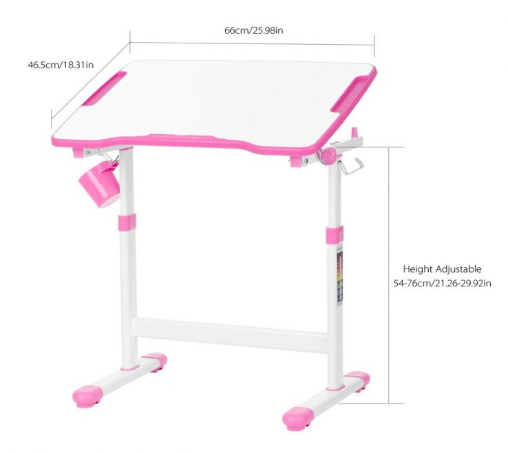 Amazing Child Desk Height Of Tectake Kids | Table Different Colours