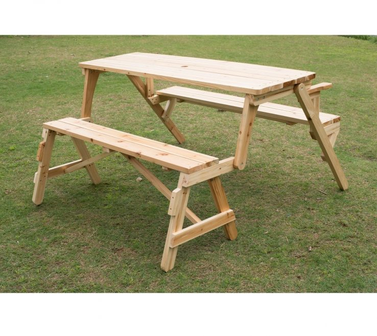 Amazing Garden Bench Table Of Shop Outsunny 2 In 1 Convertible Picnic