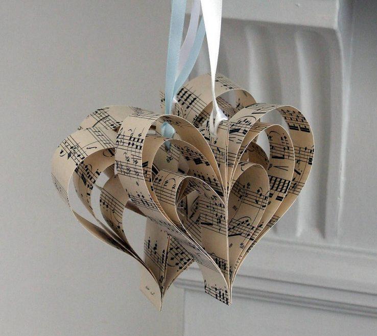 Amazing Heart Decorations Home Of Handmade Sheet Music Decoration