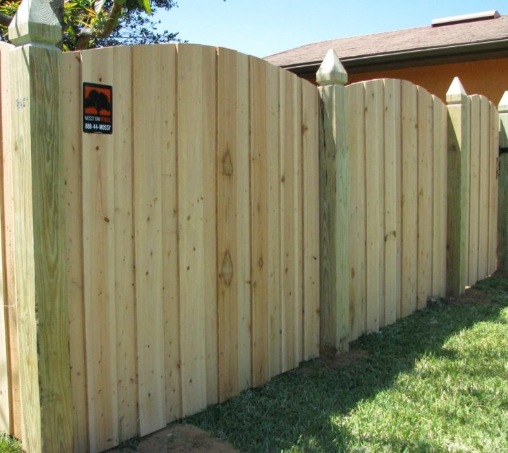 Amazing Wood Fence Designs Of Scallop Cut Privacy Design By Mossy Oak