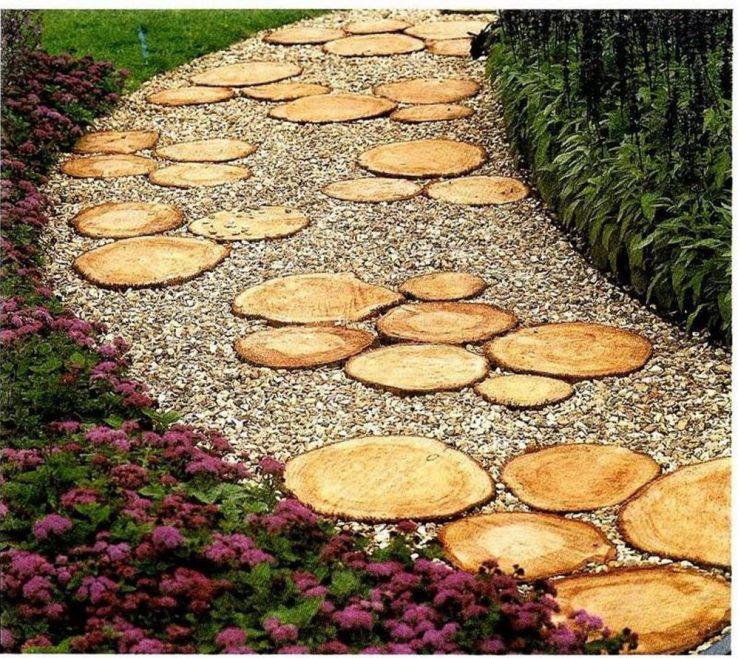 Amazing Wood Garden Path Of From Saw Cuts. 37 Original Diy Ideas