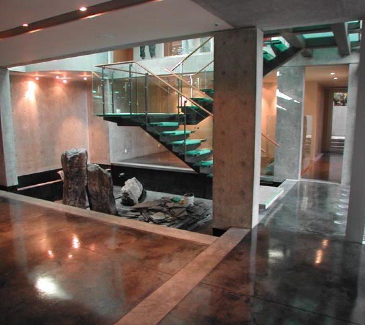 Artistic Concrete Flooring In Homes Of Concretefoyer