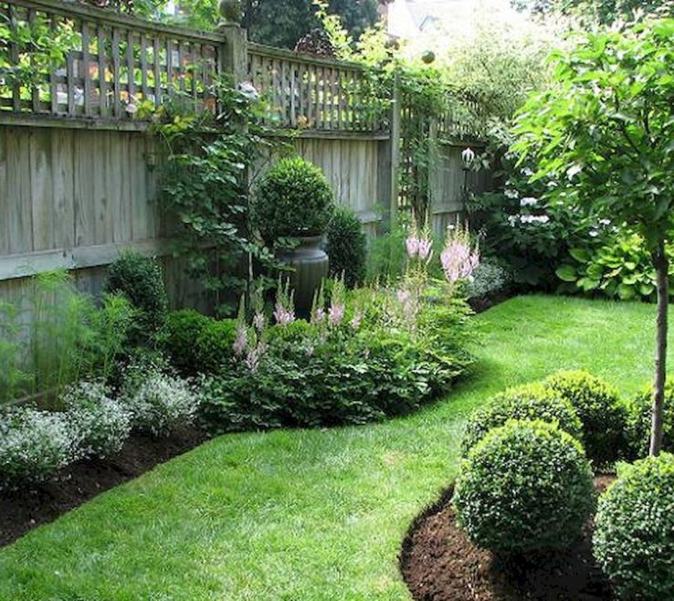 Artistic Ideas For Yard Privacy Of Backyard Fence Landscaping On A Budget
