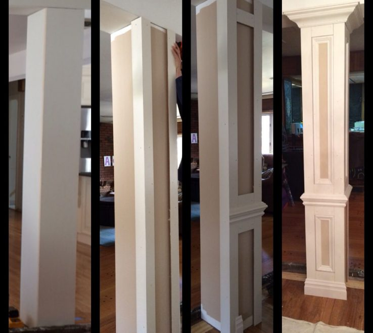 Artistic Indoor Column Ideas Of Do It Yourself Columns To Divide Living