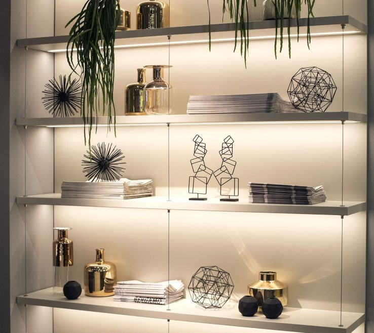 Artistic Lighting For Small Spaces Of 4. Light The Inside Of Your Shelves