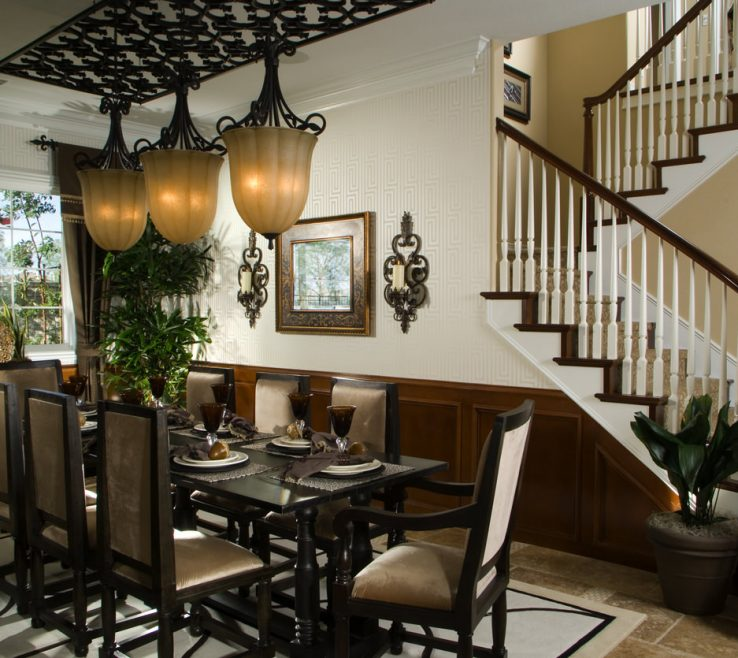 Artistic Luxury Room Decor Of Ultra Dining And Design With Dark Dining