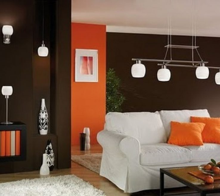 Artistic Orange And Brown Home Decor Of Modern Ideas