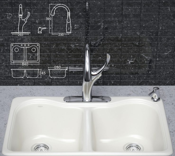 Astonishing Odd Shaped Kitchen Sinks Of Sink Mats With Drain Hole: Remarkable