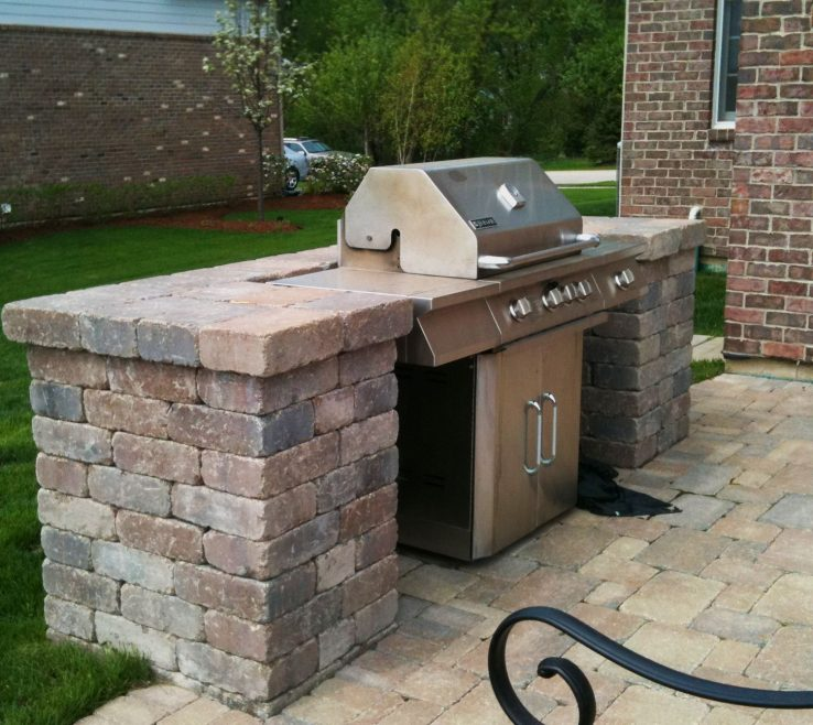 Astounding Bbq Grill Design Ideas Of Belgard Patio With Built In Surround By Hawthorn
