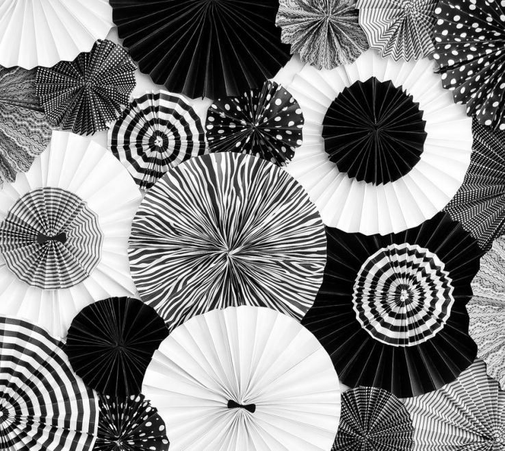Astounding Black And White Decorating Ideas For A Party Of In Love With These + Paper Medallions