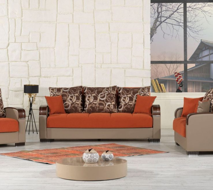 Astounding Brown And Orange Sofa Of Open In New Windowca Mobimaxo
