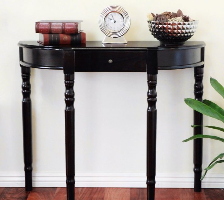 Astounding Entrance Hall Tables For Sale Of Small Half Moon Oak Narrow Demilune Console