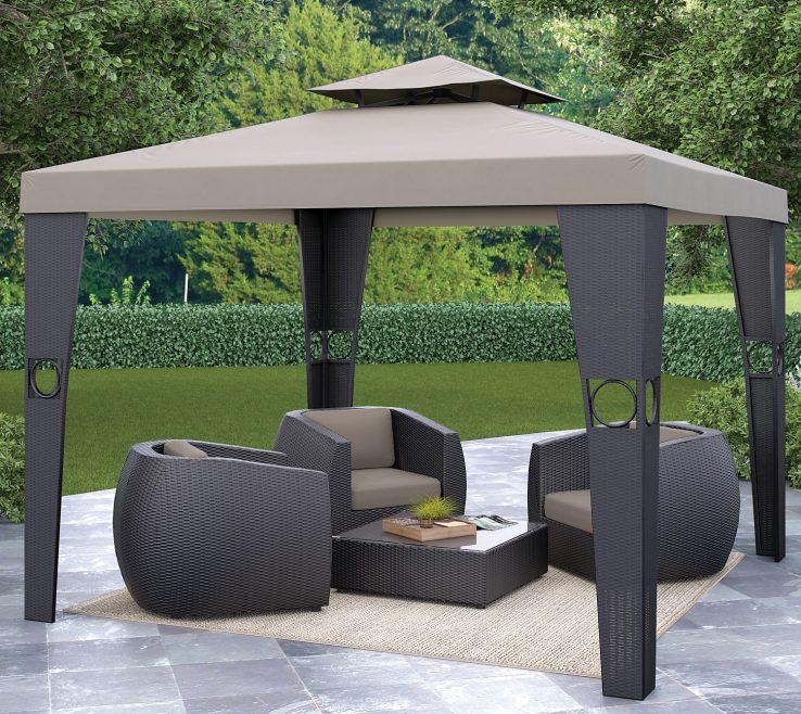 Astounding Furniture For Gazebo Of Enchanting Garden Design With Unique Gazebo: