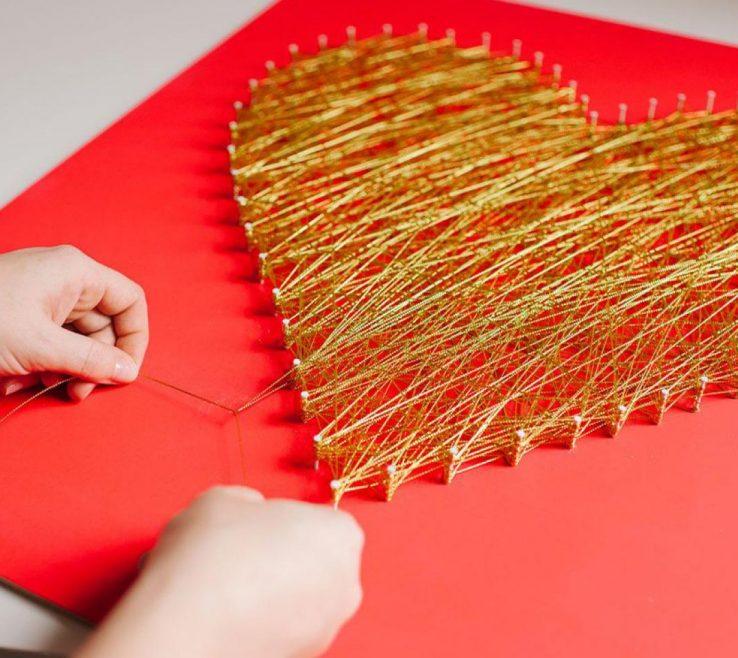 Astounding Heart Decorations Home Of Modern String Art