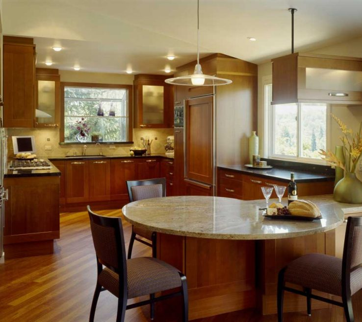 Astounding Kitchen Peninsula With Seating Of Traditional Style Design Dining Table
