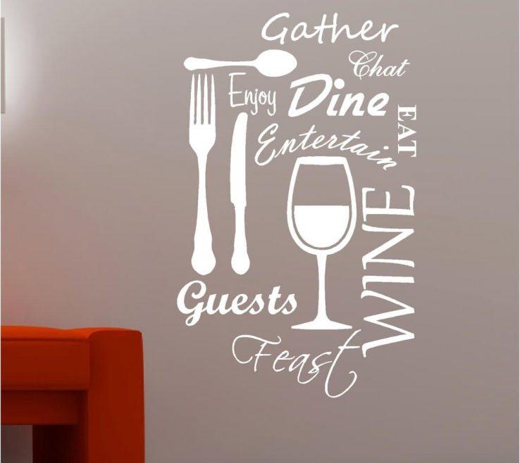 Astounding Vinyl Wall Art Ideas Of Vineyard Wine Kitchen Quotes White Sticker