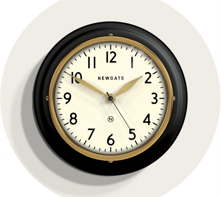 Astounding Wall Clocks For Kitchens Of Small Kitchen Clock | Classic Black |