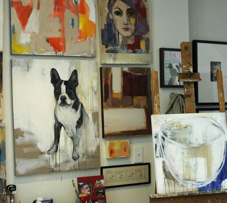 Attractive Art Studio Ideas Of Gallery Wall Decorating