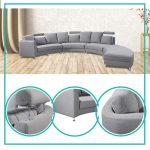 Attractive Curved Modern Sofa Of Get Quotations · Rounded Sectional Convertible Semi Firm