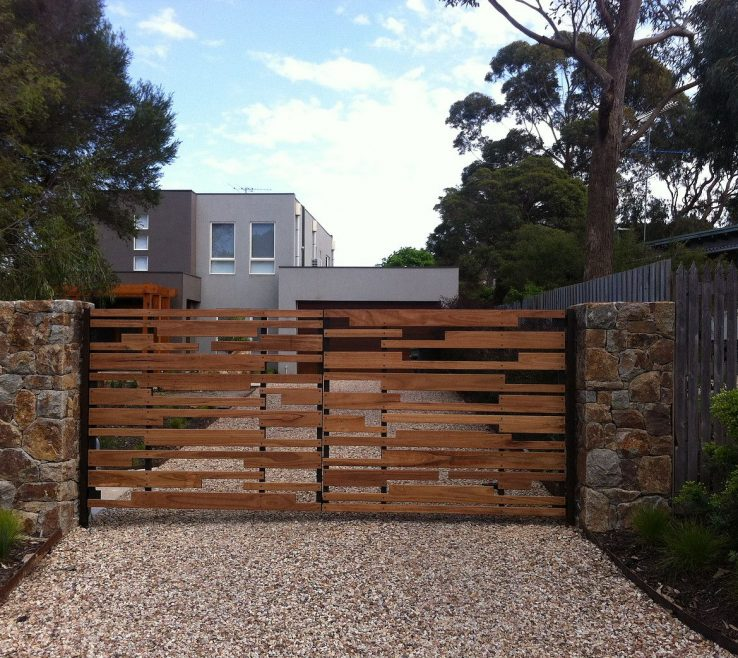 Attractive Driveway Entrance Ideas Of Original Steel Or Timber Gates Built