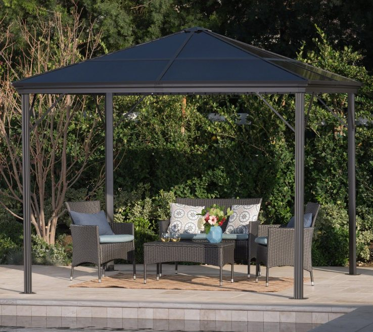 Attractive Furniture For Gazebo Of Aluminum With By Her Knight Home