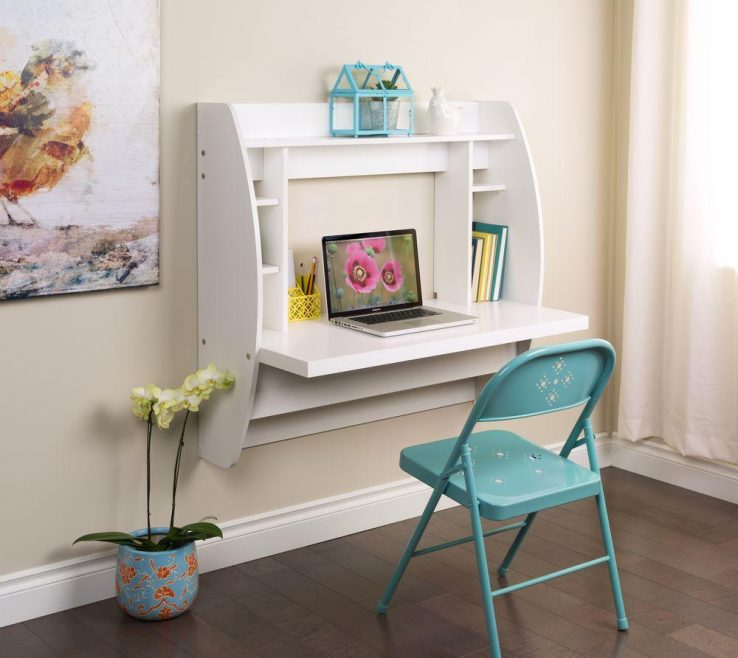 Attractive Kids Study Table With Storage Of Prepac White Desk Shelves