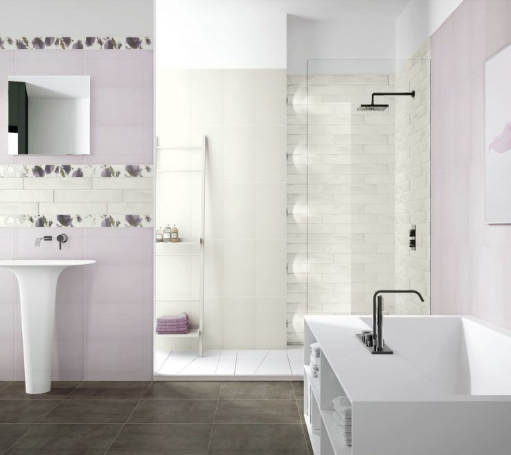 Attractive Modern Bathroom Walls Of 32 Good Ideas And Pictures Of Tiles