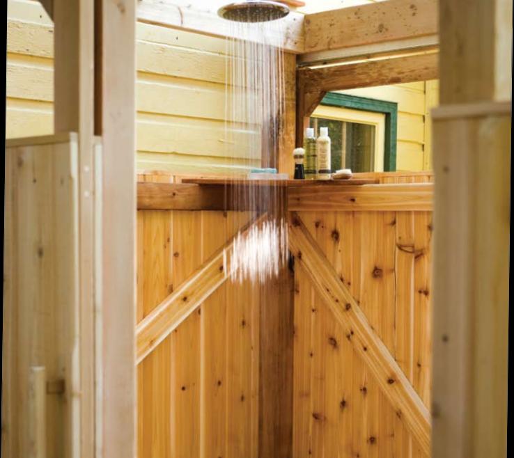 Attractive Outdoor Shower Floor Ideas