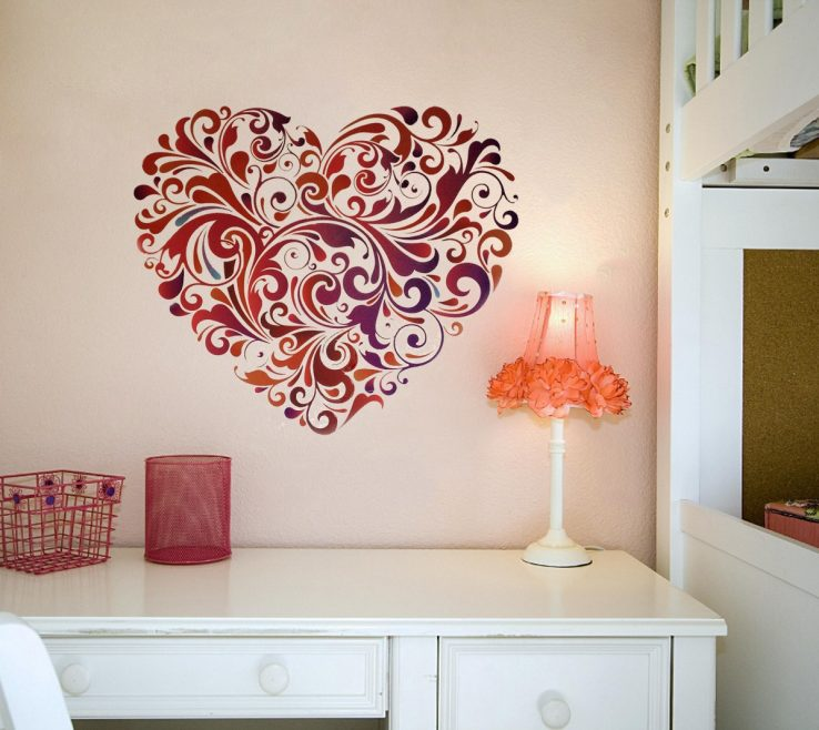 Attractive Vinyl Wall Art Ideas Of Designs Withal Graphics Flower Design Preferential